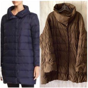Eileen Fisher Green Down Puffer Jacket Coat 2X